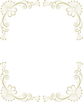 Classical frame (gold frame 11)
