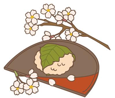 Spring cherry rice cake