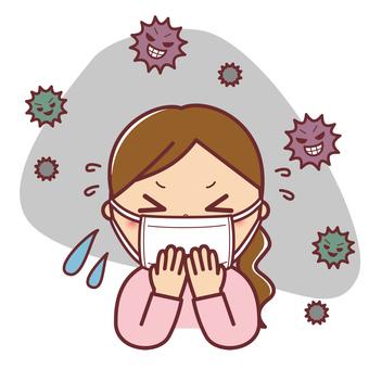 Flu cold mask woman