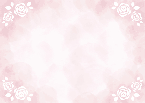 Watercolor background rose frame