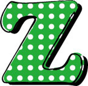 Dotted alphabet Z