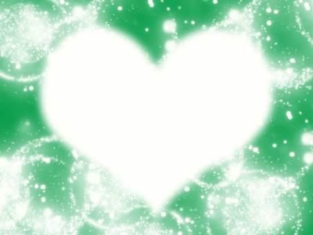 Green shining heart