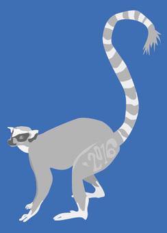 Wolverine lemur 's New Year card