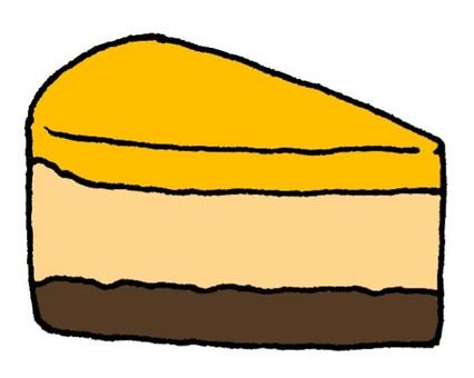 Orange chocolat mousse cake