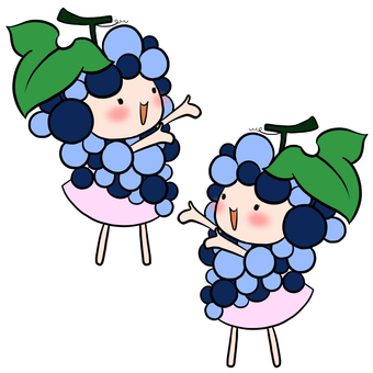 Raising hands to the left and right Grape fairy set Water