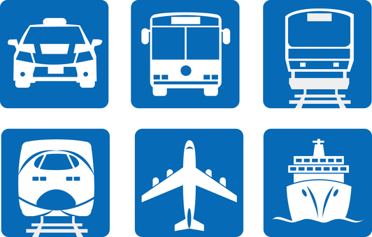 Public Transportation Icon Blue