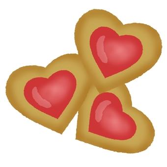 Heart cookie ③
