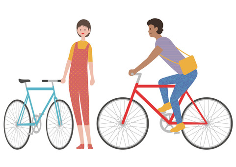 サイクリストのイラストセット