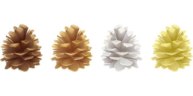 ai Pine cone 4-piece set