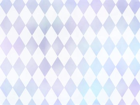 Winter gradation watercolor diamond pattern purple