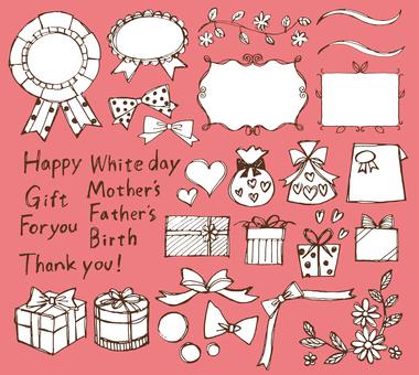 리본 등 선물 선물 수공