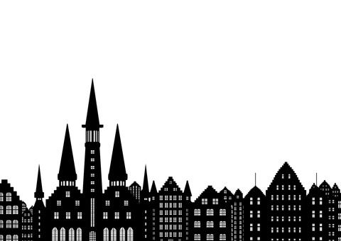 European-style cityscape
