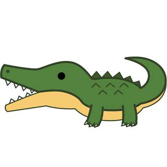 Animal Illustrations-Alligator