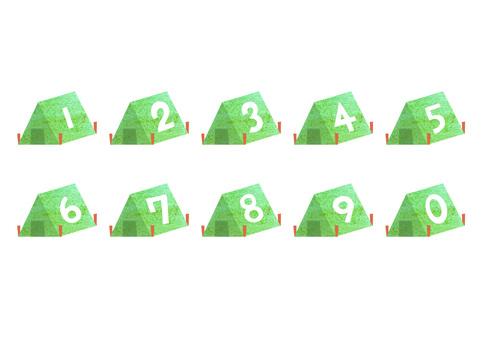 텐트 형의 숫자