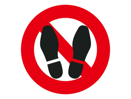 No shoes ban