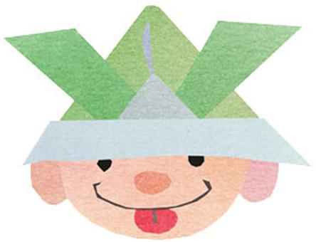 Origami kite illustration icon
