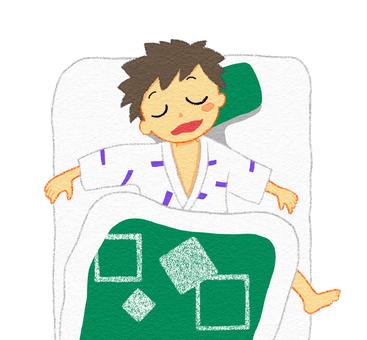 A man who sleeps in a ryokan