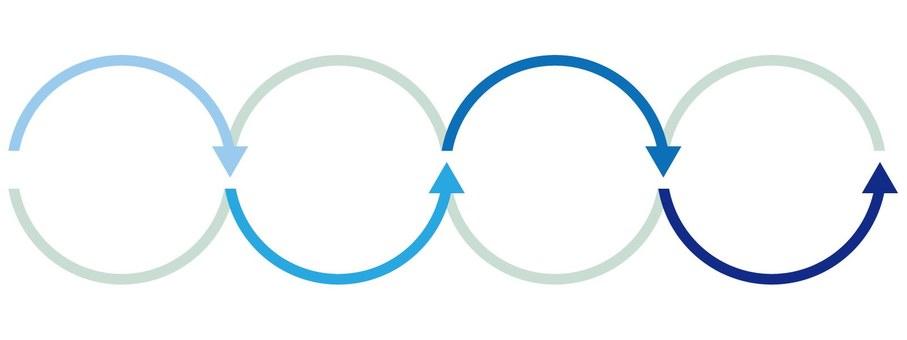 도표 (화살표 / 블루)