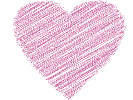 Pink pen touch style heart