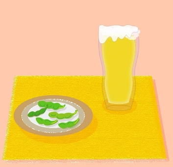 Beer and Edamame - Pink series