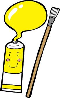 黃色的畫筆
