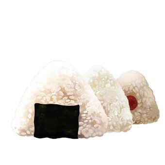 Three rice balls (rice ball)