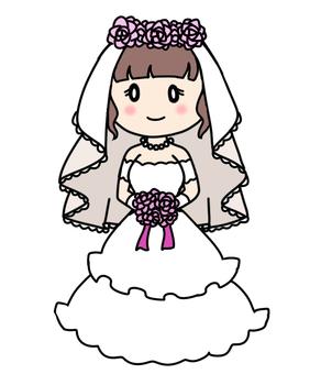 Illustration of a cute prom dress