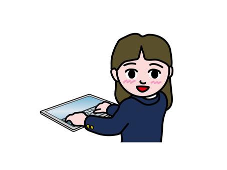 PC operation (167) tablet high school girl