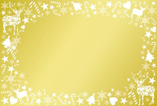 聖誕節框架黃金