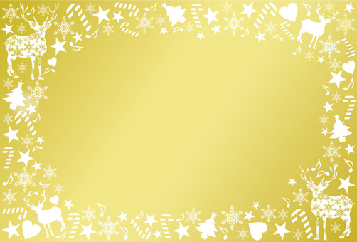 Christmas frame gold