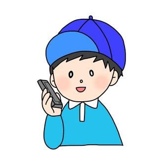 전화 중 소년