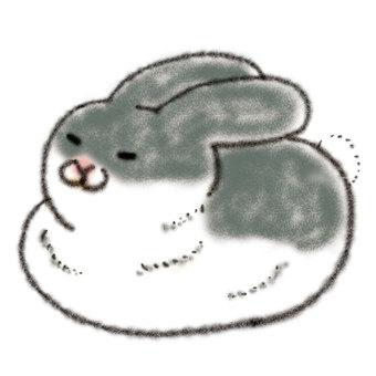 Rabbit illustration (gray)