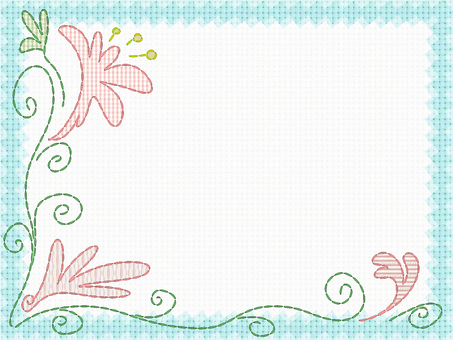 Embroidery card (light blue)