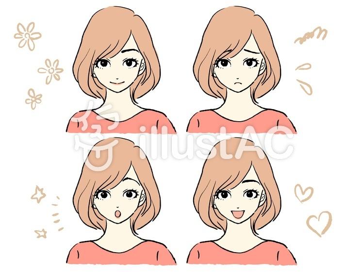 女の子の表情集イラスト No 967037無料イラストならイラストac