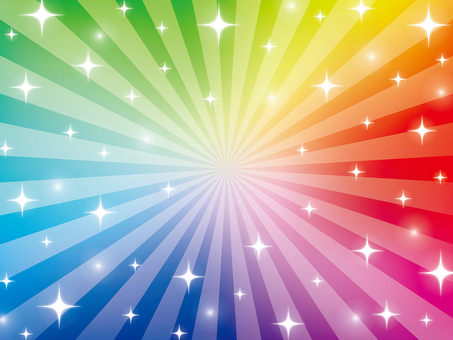 Rainbow colored sparkling radiation background