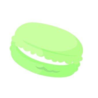 녹색 마카롱