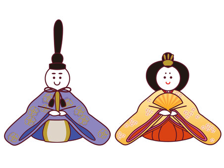 Hina doll's inside and back and doll