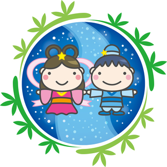 七夕 織姫と彦星