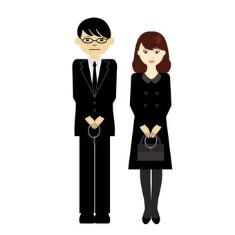 Funeral participants (men and women)
