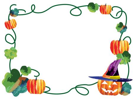 Ghost pumpkin frame