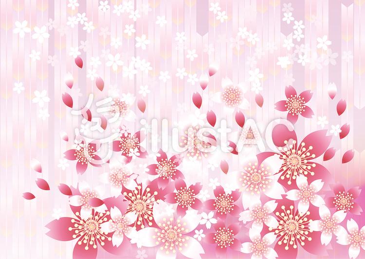 さくらの花&ピンク矢羽10のイラスト