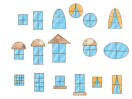 Various window glasses