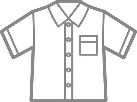 Short-sleeved shirt (white)