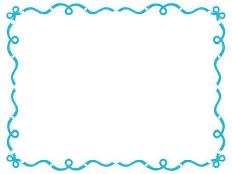 Ribbon frame <Blue>