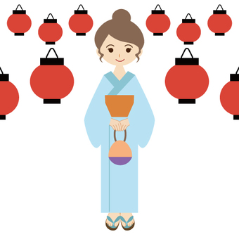 Festival and Yukata woman