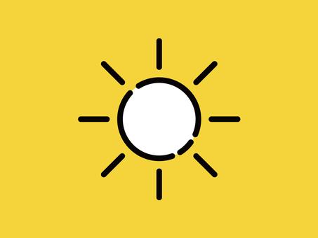 큰 아이콘 태양 맑음