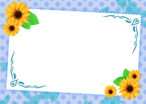 Fresh sunflower card