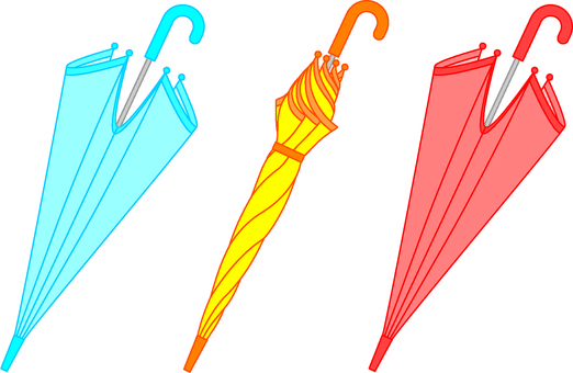 Three umbrellas (color 2)