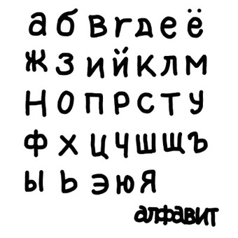 Lowercase alphabet (Russian)