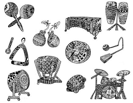 Percussion Zentangle